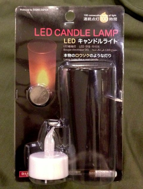 ダイソーLED CANDLE LAMP